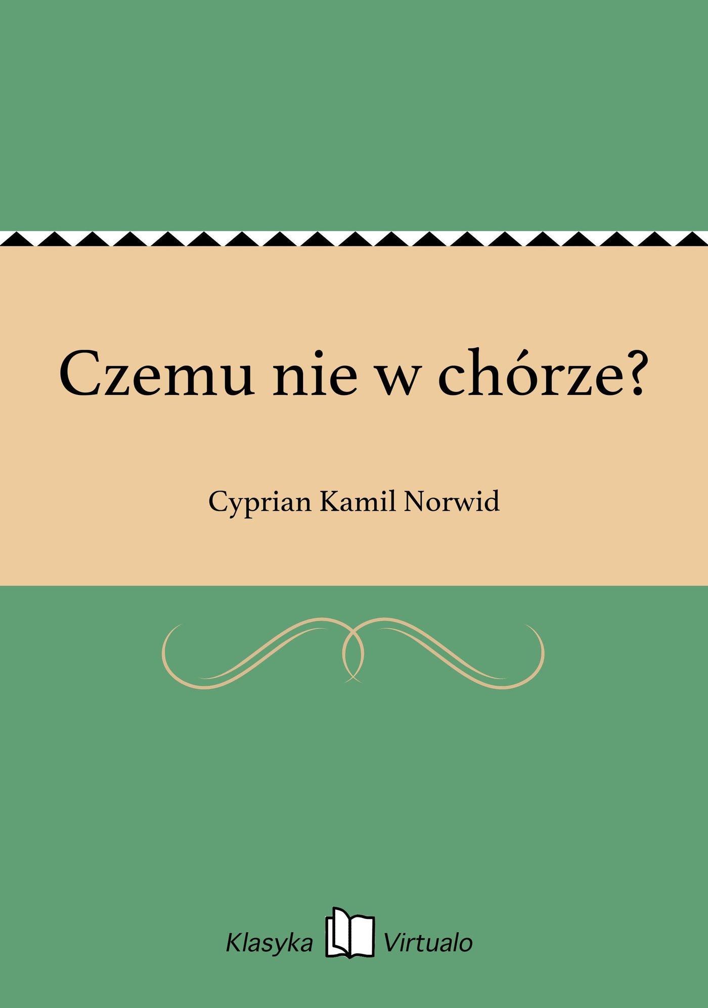 Czemu nie w chórze? - Ebook (Książka na Kindle) do pobrania w formacie MOBI