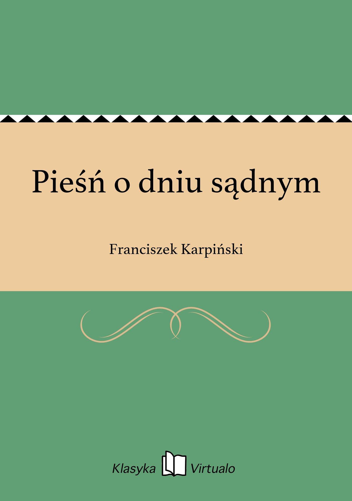 Pieśń o dniu sądnym - Ebook (Książka na Kindle) do pobrania w formacie MOBI