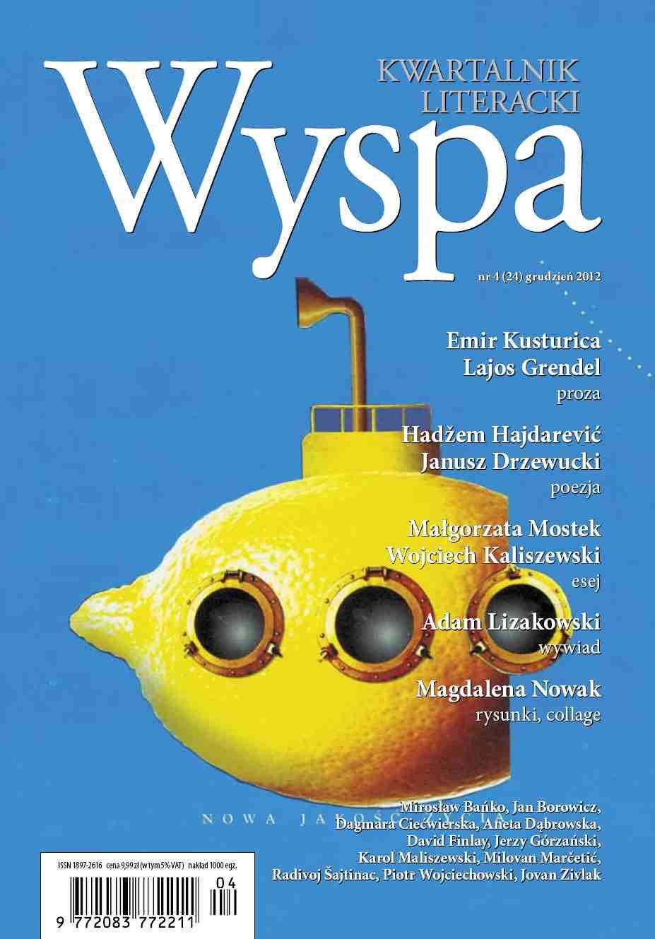 WYSPA Kwartalnik Literacki - nr 4/2012 (24) - Ebook (Książka PDF) do pobrania w formacie PDF