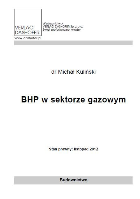 BHP w sektorze gazowym - Ebook (Książka PDF) do pobrania w formacie PDF