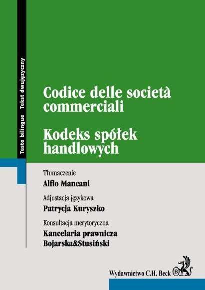 Kodeks spółek handlowych. Codice delle societa commerciali - Ebook (Książka PDF) do pobrania w formacie PDF