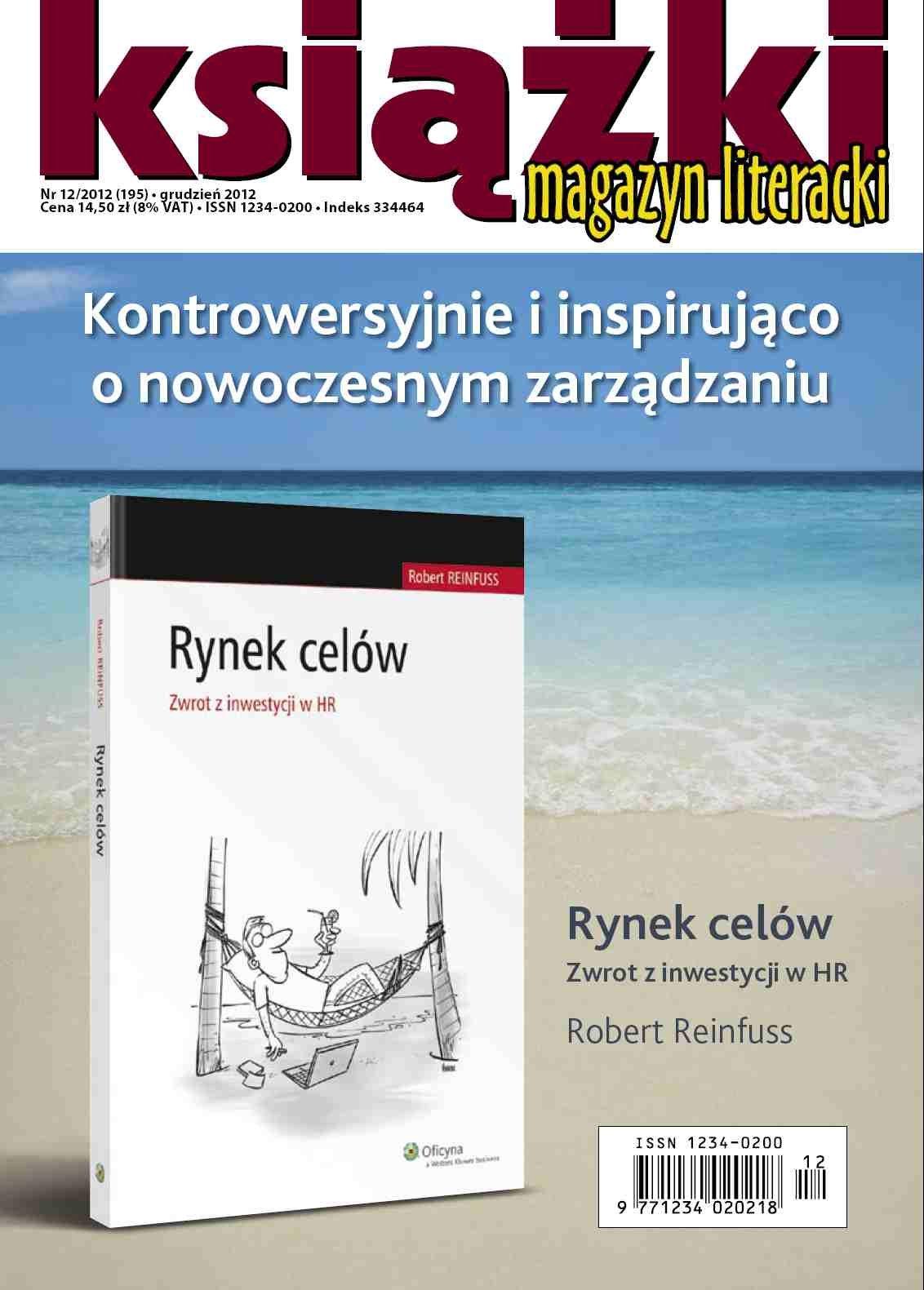 Magazyn Literacki KSIĄŻKI - nr 12/2012 (195) - Ebook (Książka PDF) do pobrania w formacie PDF
