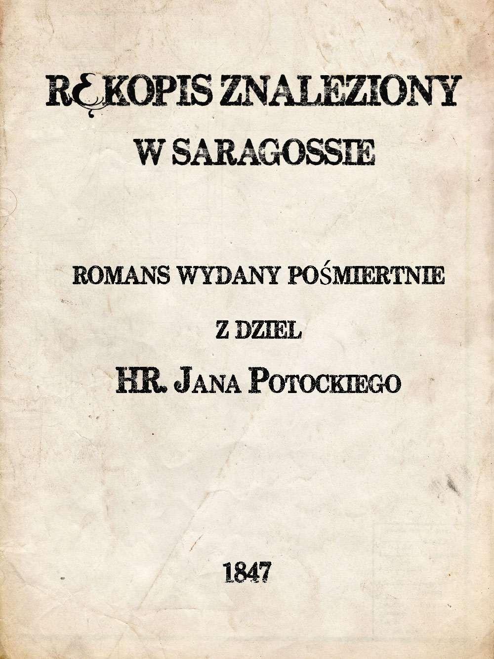 Rękopis znaleziony w Saragossie - Ebook (Książka na Kindle) do pobrania w formacie MOBI