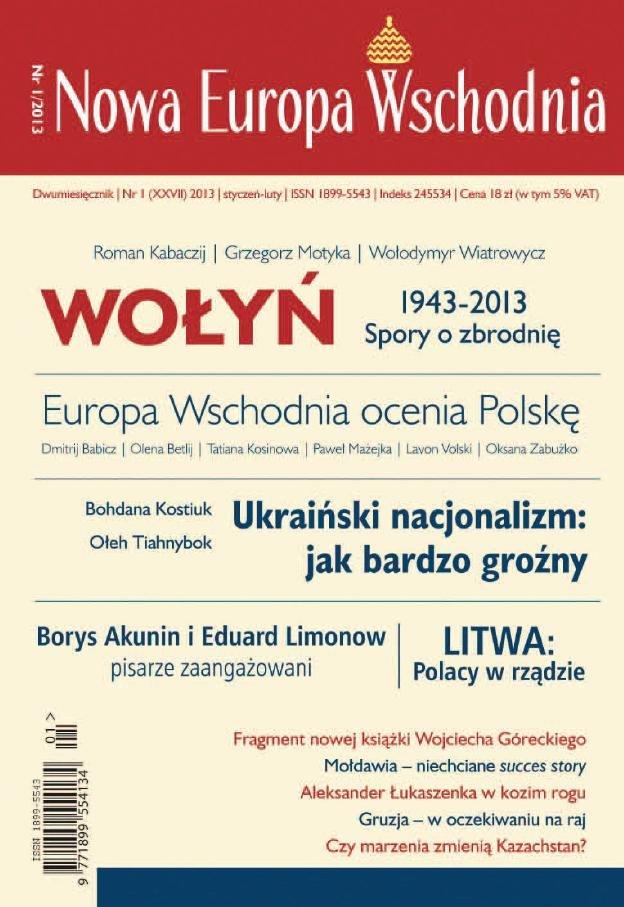 Nowa Europa Wschodnia 1/2013 - Ebook (Książka EPUB) do pobrania w formacie EPUB