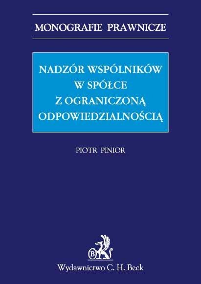 Nadzór wspólników w spółce z ograniczoną odpowiedzialnością - Ebook (Książka PDF) do pobrania w formacie PDF