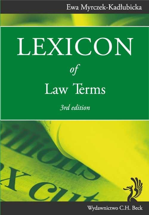 Lexicon of Law Terms - Ebook (Książka PDF) do pobrania w formacie PDF