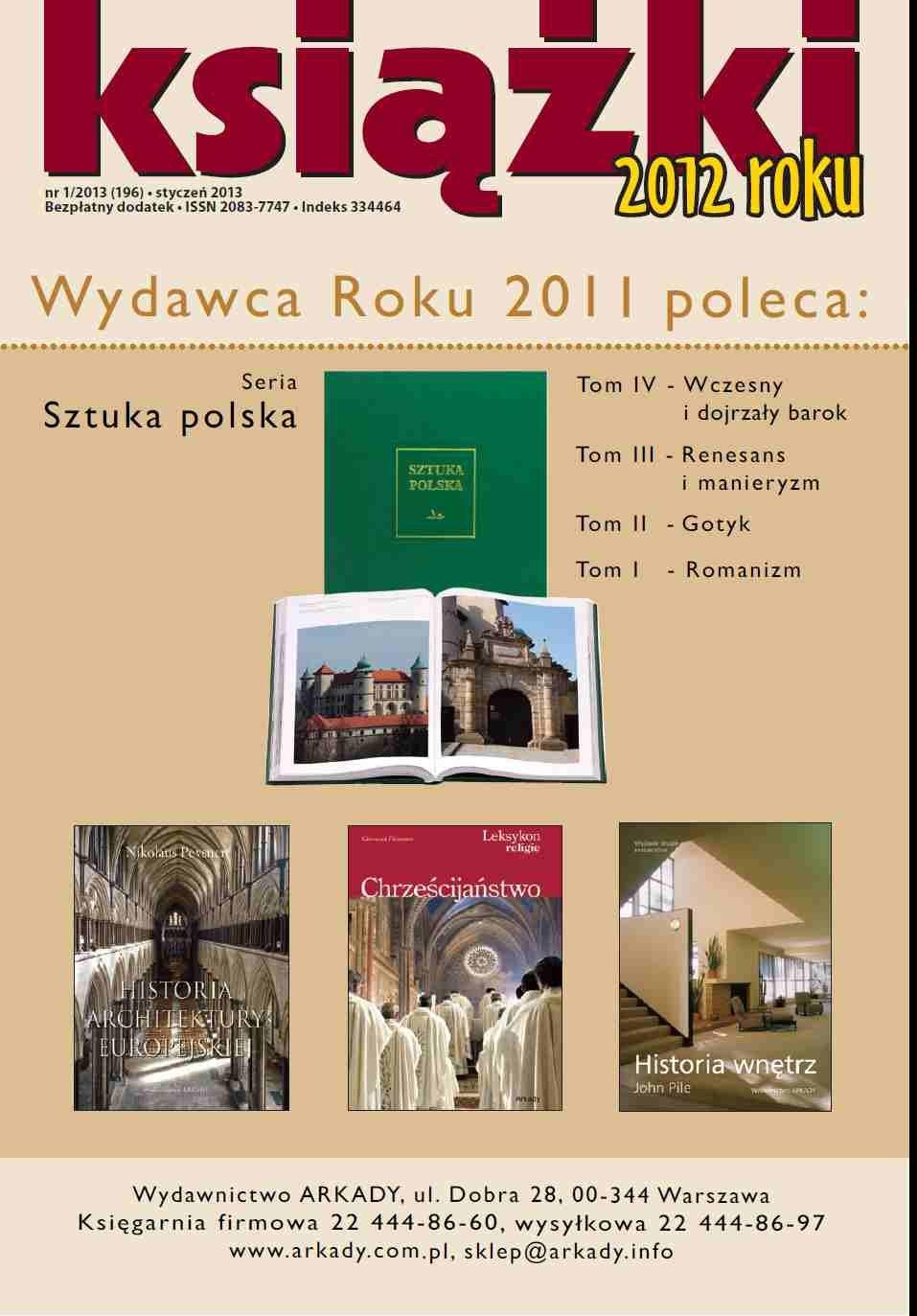 Książki roku 2012 Nr 1/2013 (196) - Ebook (Książka PDF) do pobrania w formacie PDF