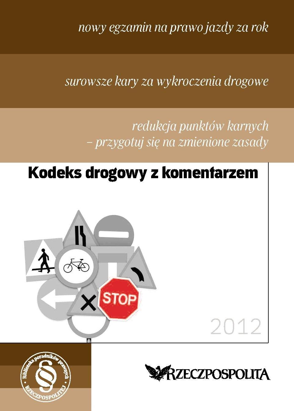 Kodeks drogowy 2012 - Ebook (Książka PDF) do pobrania w formacie PDF