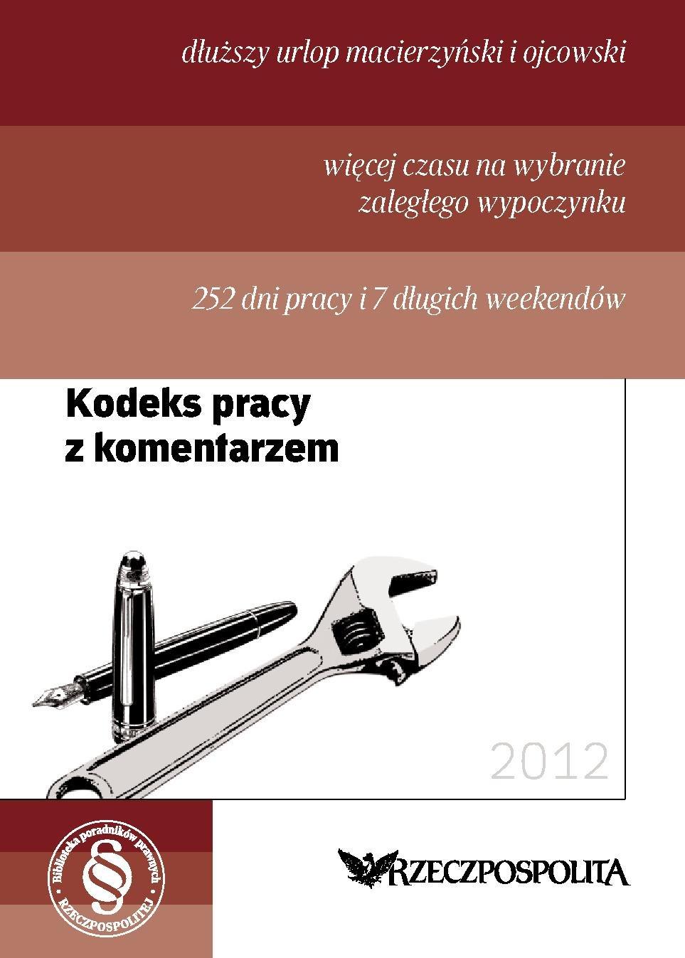 Kodeks pracy 2012 - Ebook (Książka PDF) do pobrania w formacie PDF