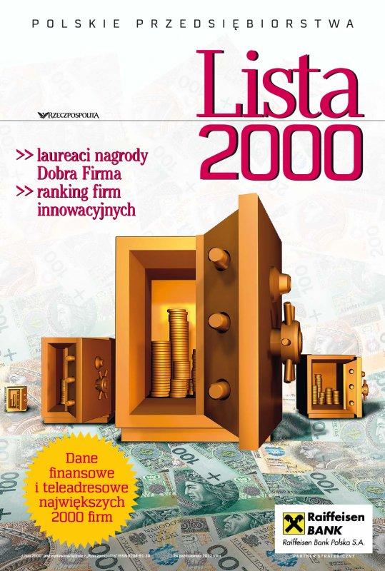 Lista 2000 - Edycja 2012 - Ebook (Książka PDF) do pobrania w formacie PDF