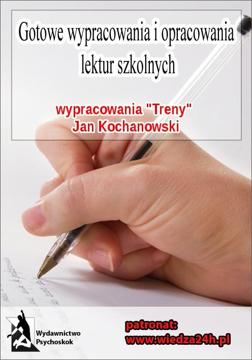 """Wypracowania. Jan Kochanowski """"Treny"""" - Ebook (Książka na Kindle) do pobrania w formacie MOBI"""