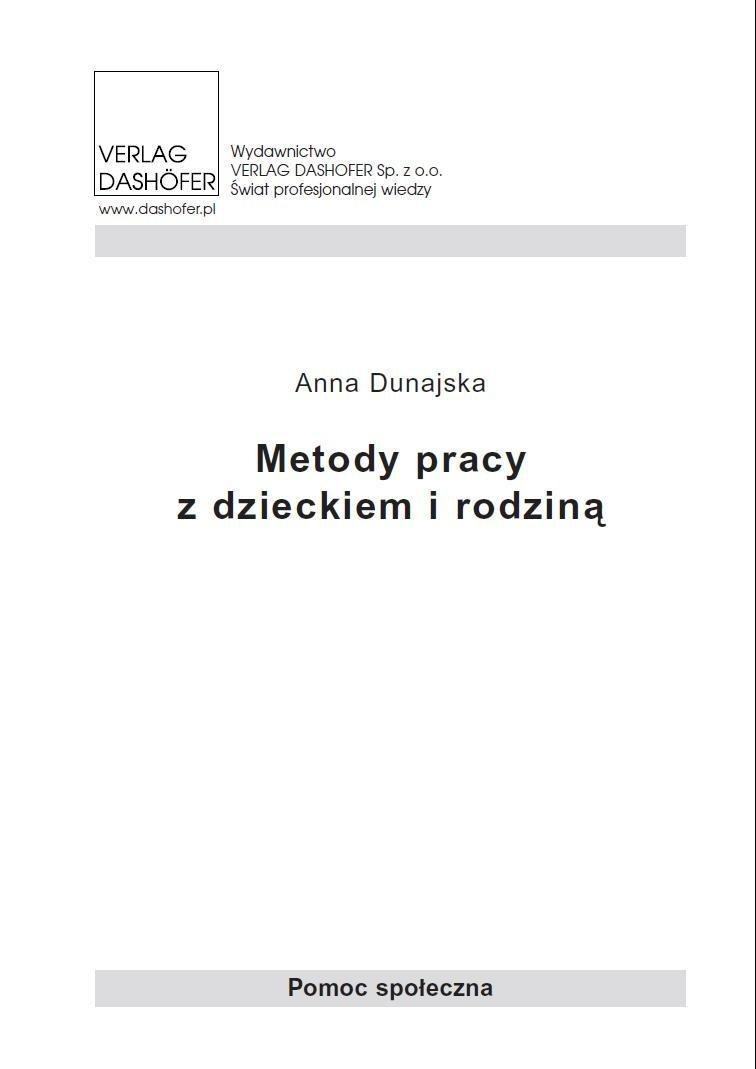 Metody pracy z dzieckiem i rodziną - Ebook (Książka PDF) do pobrania w formacie PDF