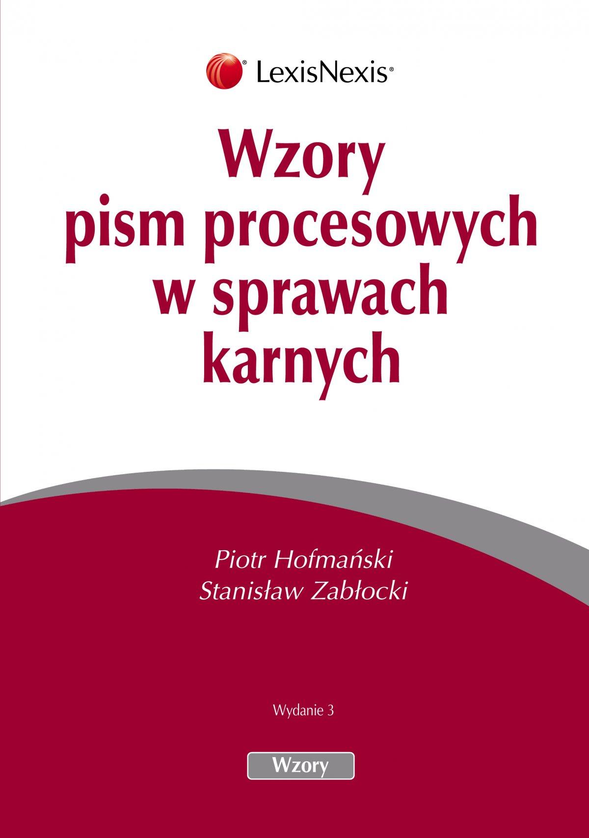 Wzory pism procesowych w sprawach karnych - Ebook (Książka PDF) do pobrania w formacie PDF
