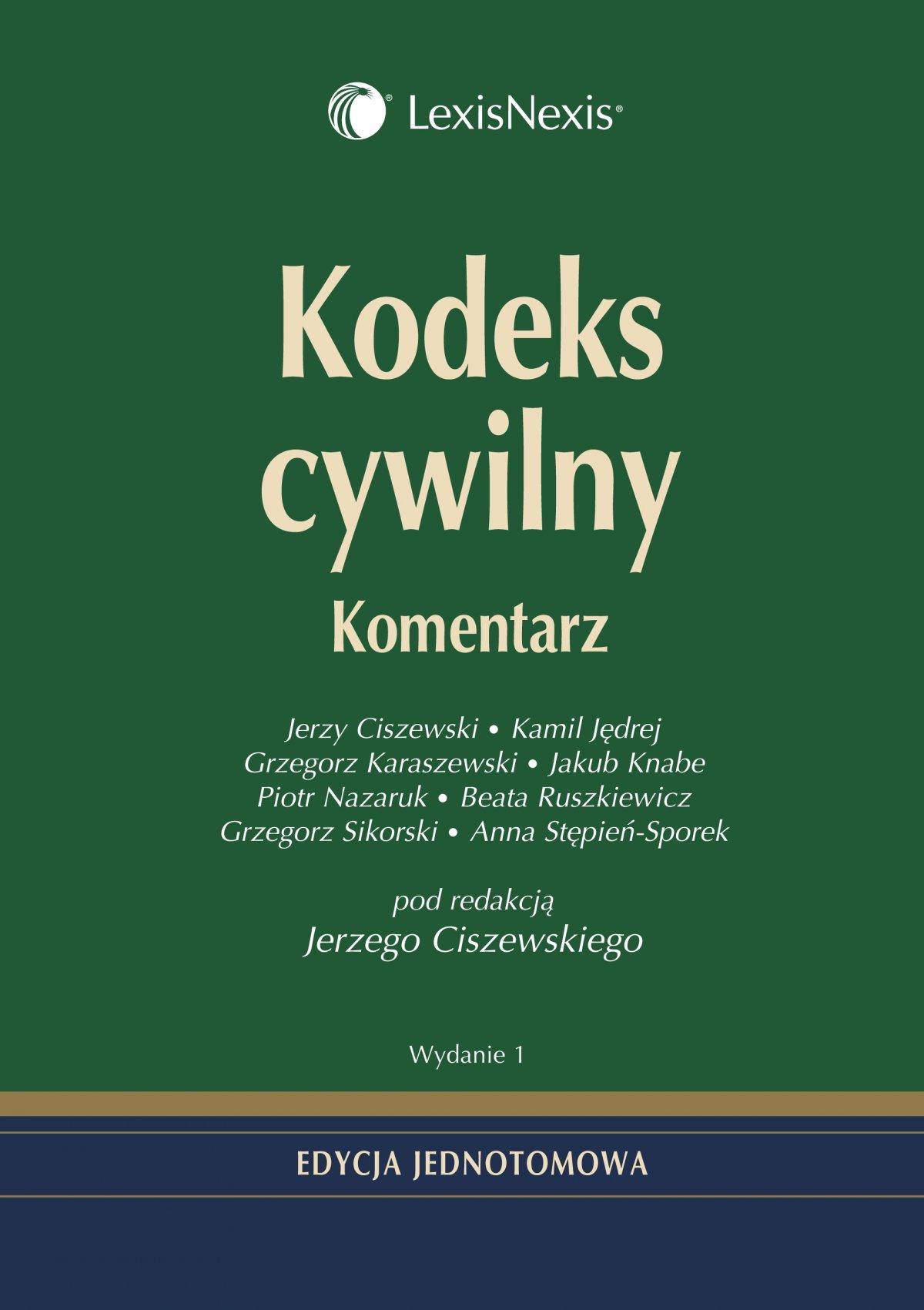 Kodeks cywilny. Komentarz - Ebook (Książka PDF) do pobrania w formacie PDF