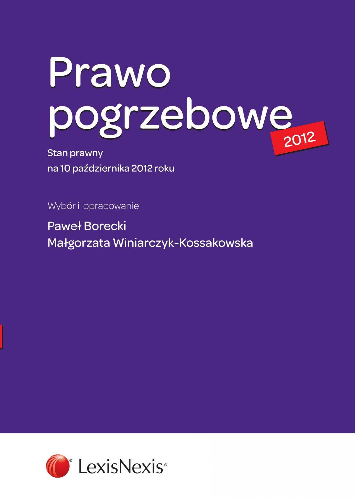 Prawo pogrzebowe - Ebook (Książka EPUB) do pobrania w formacie EPUB