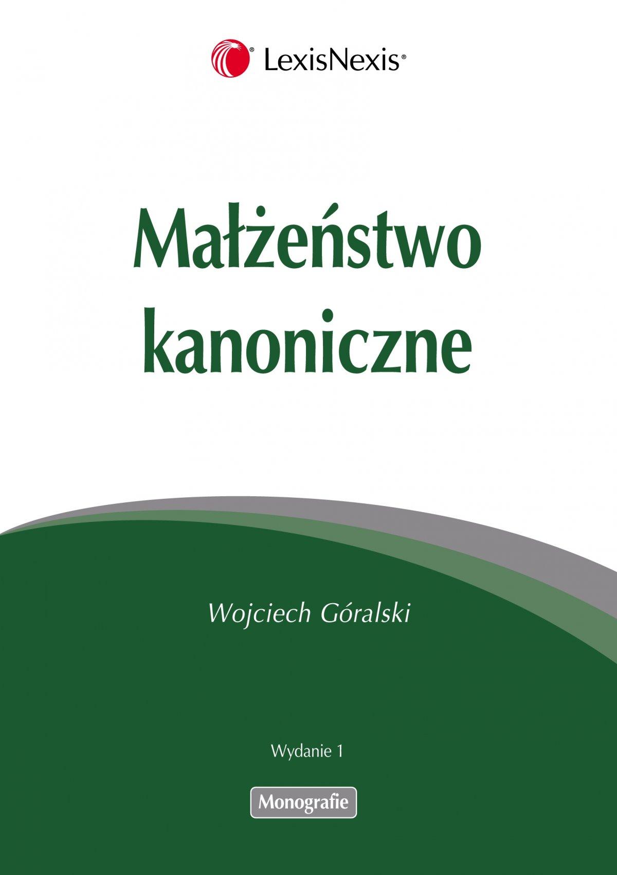 Małżeństwo kanoniczne - Ebook (Książka PDF) do pobrania w formacie PDF