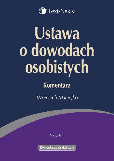 Ustawa o dowodach osobistych. Komentarz - Ebook (Książka PDF) do pobrania w formacie PDF