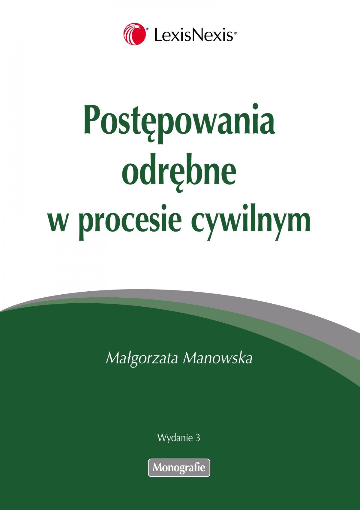 Postępowania odrębne w procesie cywilnym - Ebook (Książka PDF) do pobrania w formacie PDF
