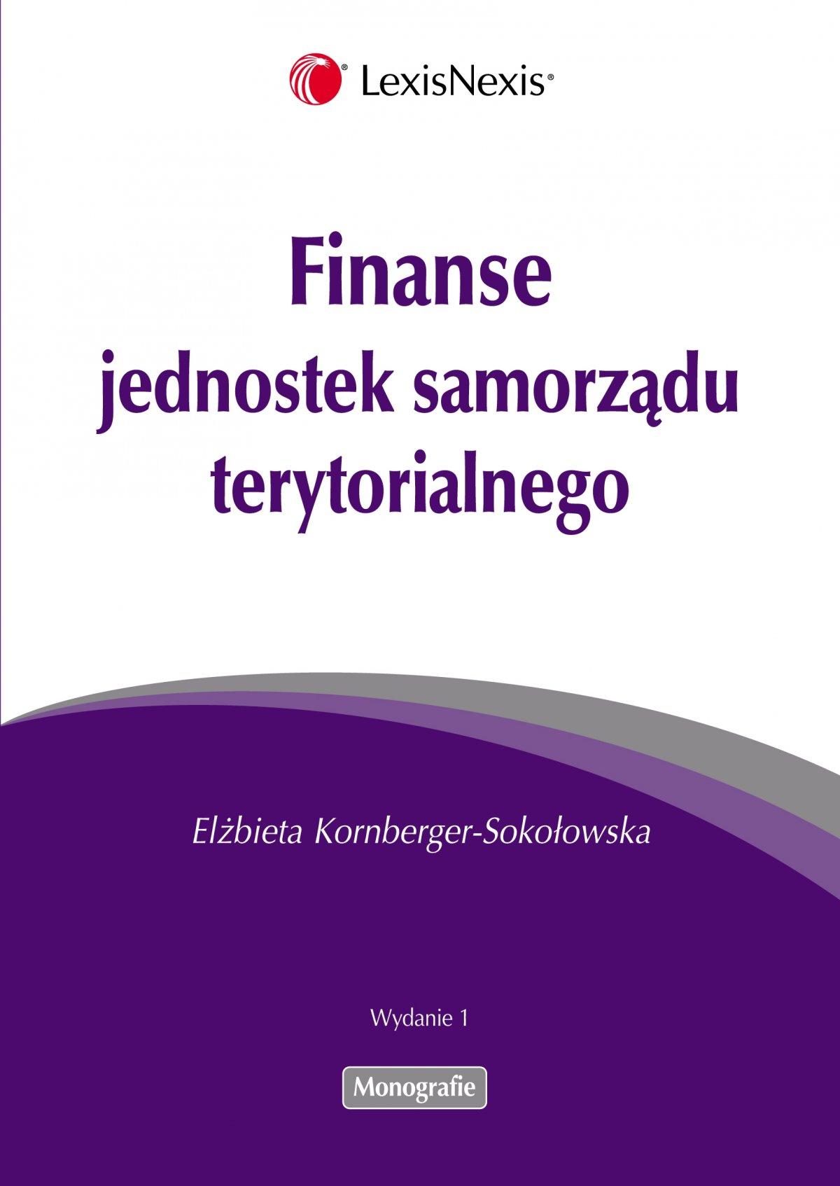 Finanse jednostek samorządu terytorialnego - Ebook (Książka PDF) do pobrania w formacie PDF