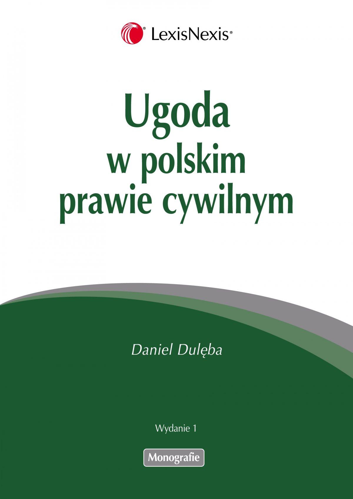 Ugoda w polskim prawie cywilnym - Ebook (Książka PDF) do pobrania w formacie PDF