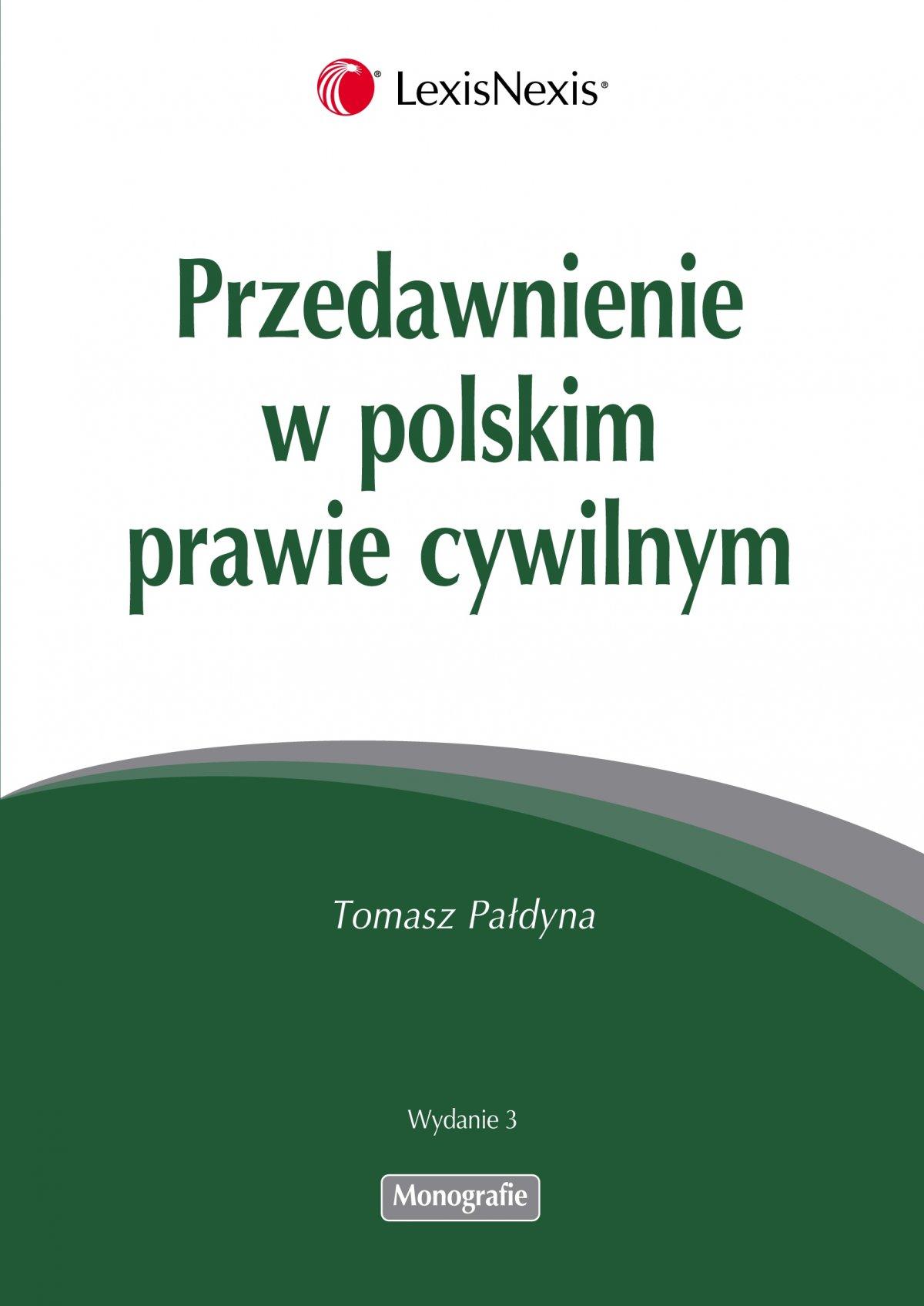 Przedawnienie w polskim prawie cywilnym - Ebook (Książka EPUB) do pobrania w formacie EPUB