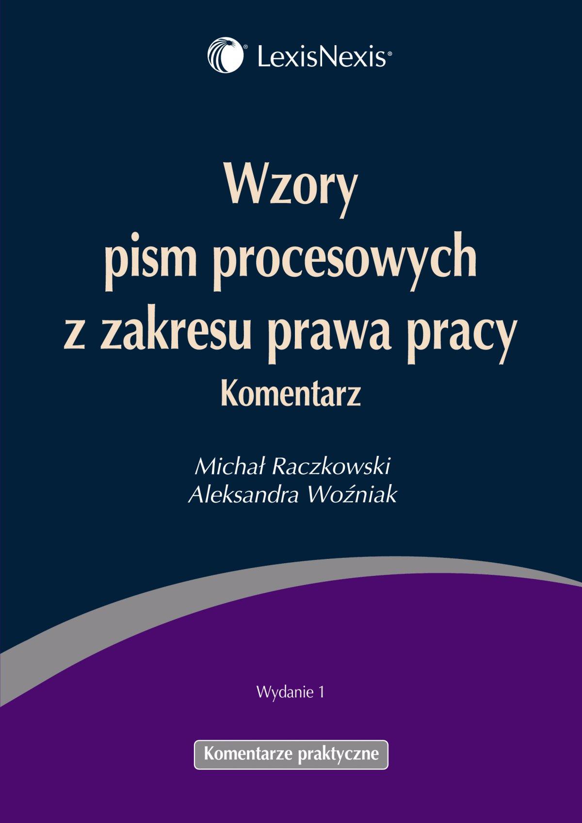 Wzory pism procesowych z zakresu prawa pracy - Ebook (Książka PDF) do pobrania w formacie PDF