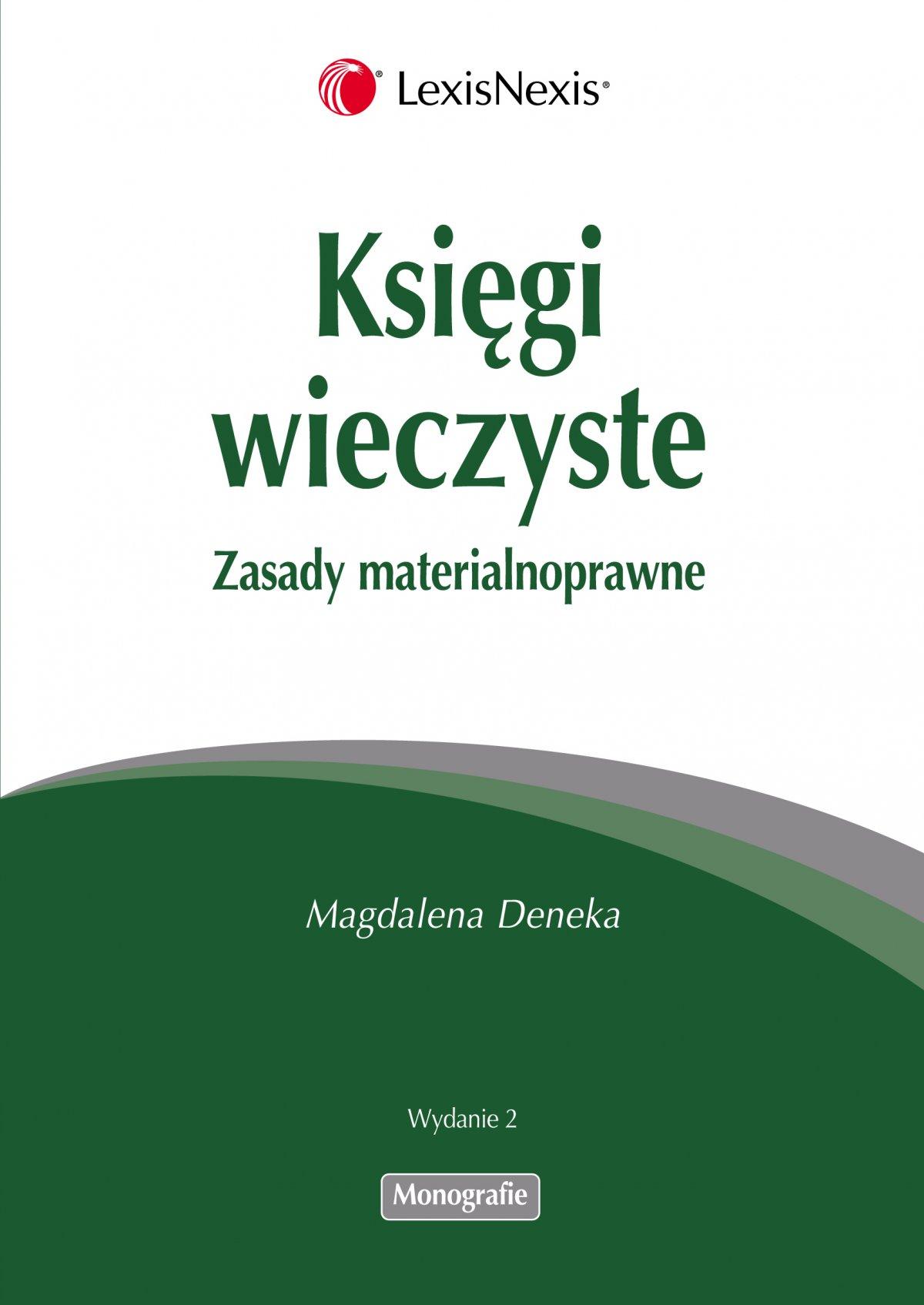 Księgi wieczyste. Zasady materialnoprawne - Ebook (Książka PDF) do pobrania w formacie PDF