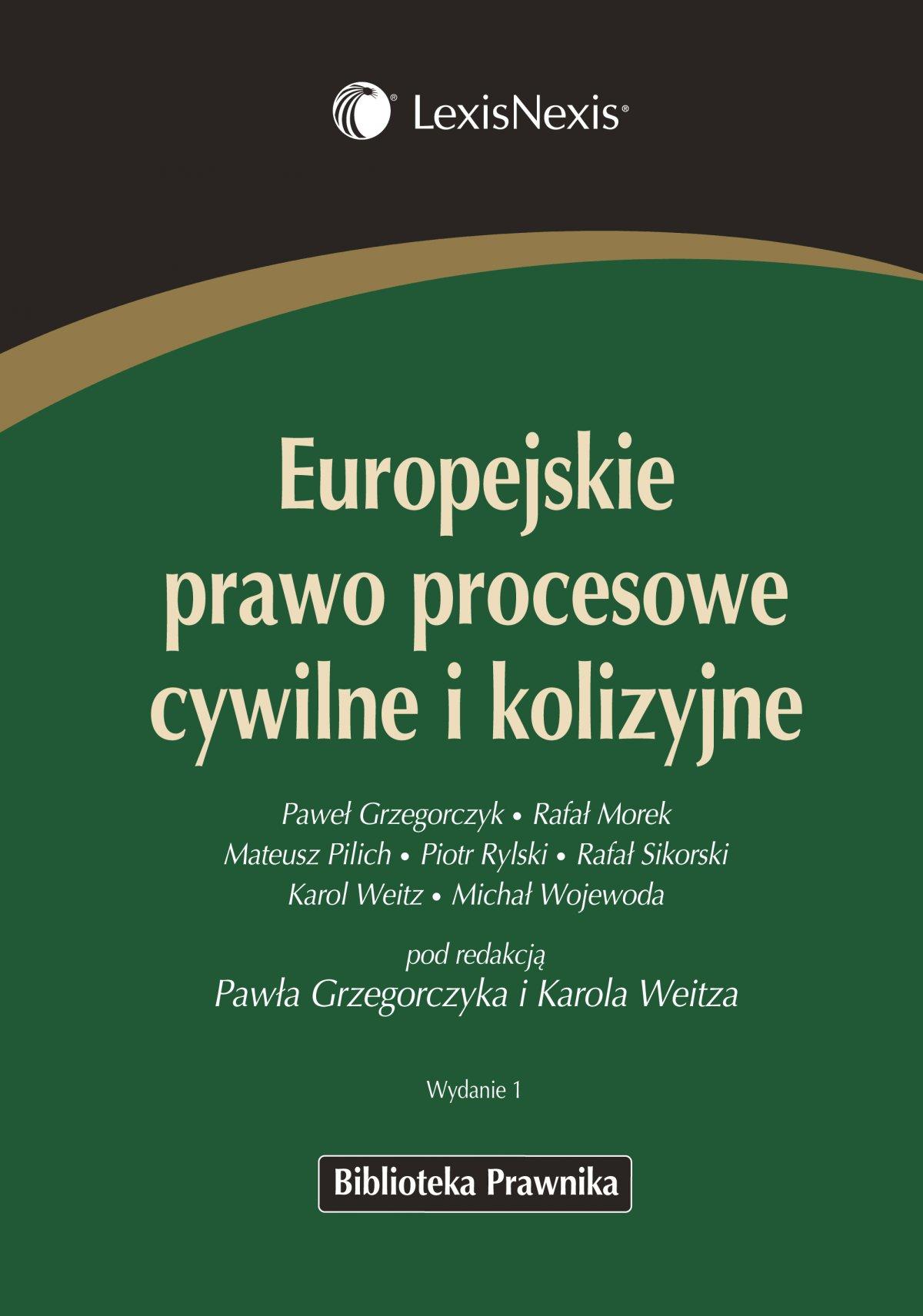 Europejskie prawo procesowe cywilne i kolizyjne - Ebook (Książka EPUB) do pobrania w formacie EPUB