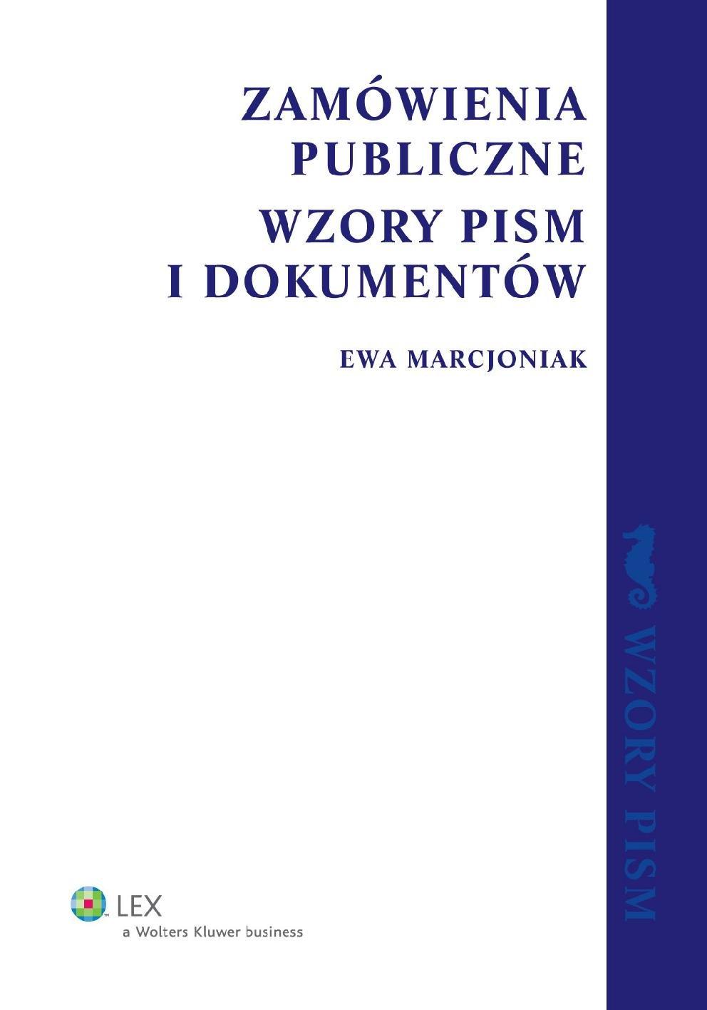 Zamówienia publiczne. Wzory pism i dokumentów - Ebook (Książka PDF) do pobrania w formacie PDF