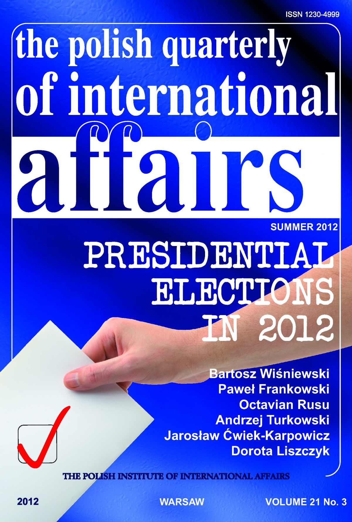 The Polish Quarterly of International Affairs 3/2012 - Ebook (Książka PDF) do pobrania w formacie PDF