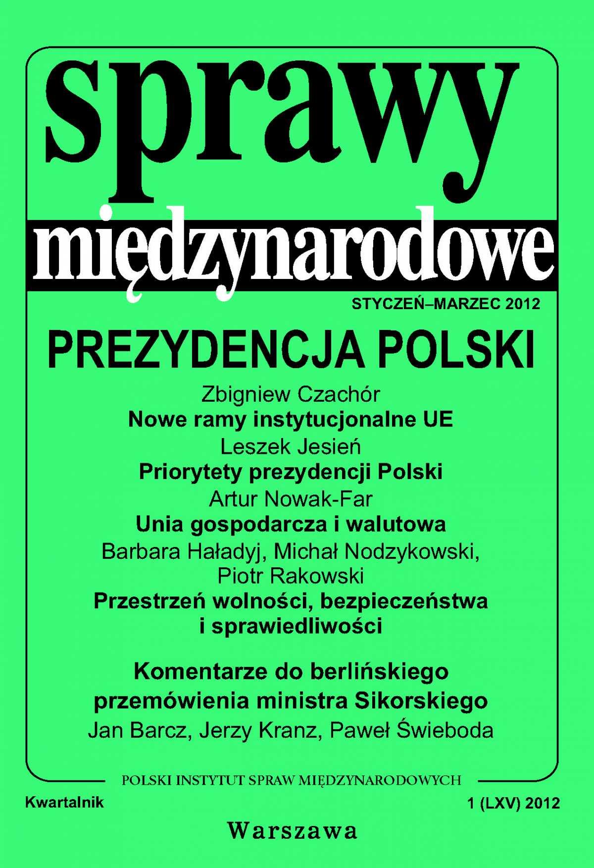 Sprawy międzynarodowe 1/2012 - Ebook (Książka PDF) do pobrania w formacie PDF