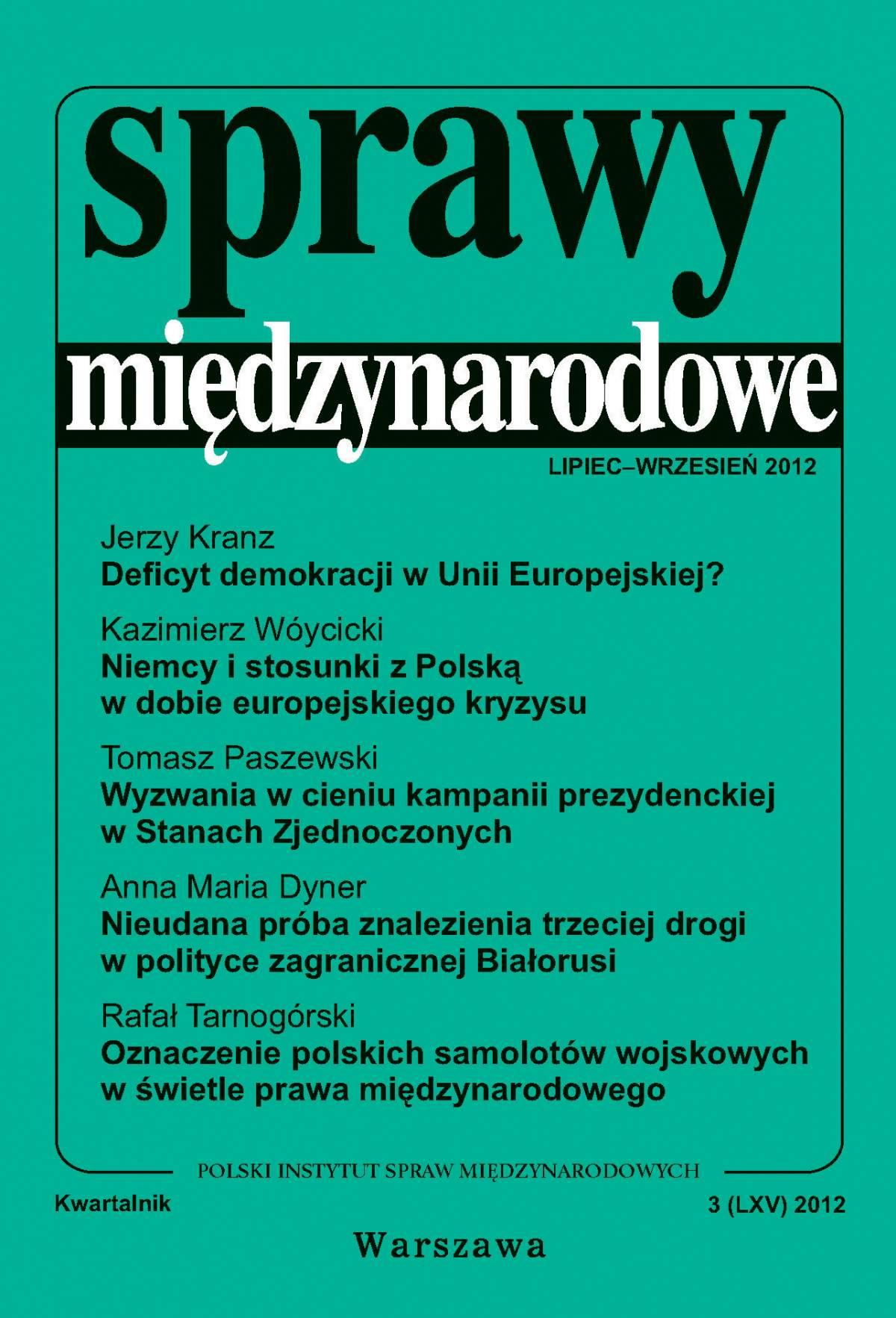 Sprawy międzynarodowe 3/2012 - Ebook (Książka PDF) do pobrania w formacie PDF