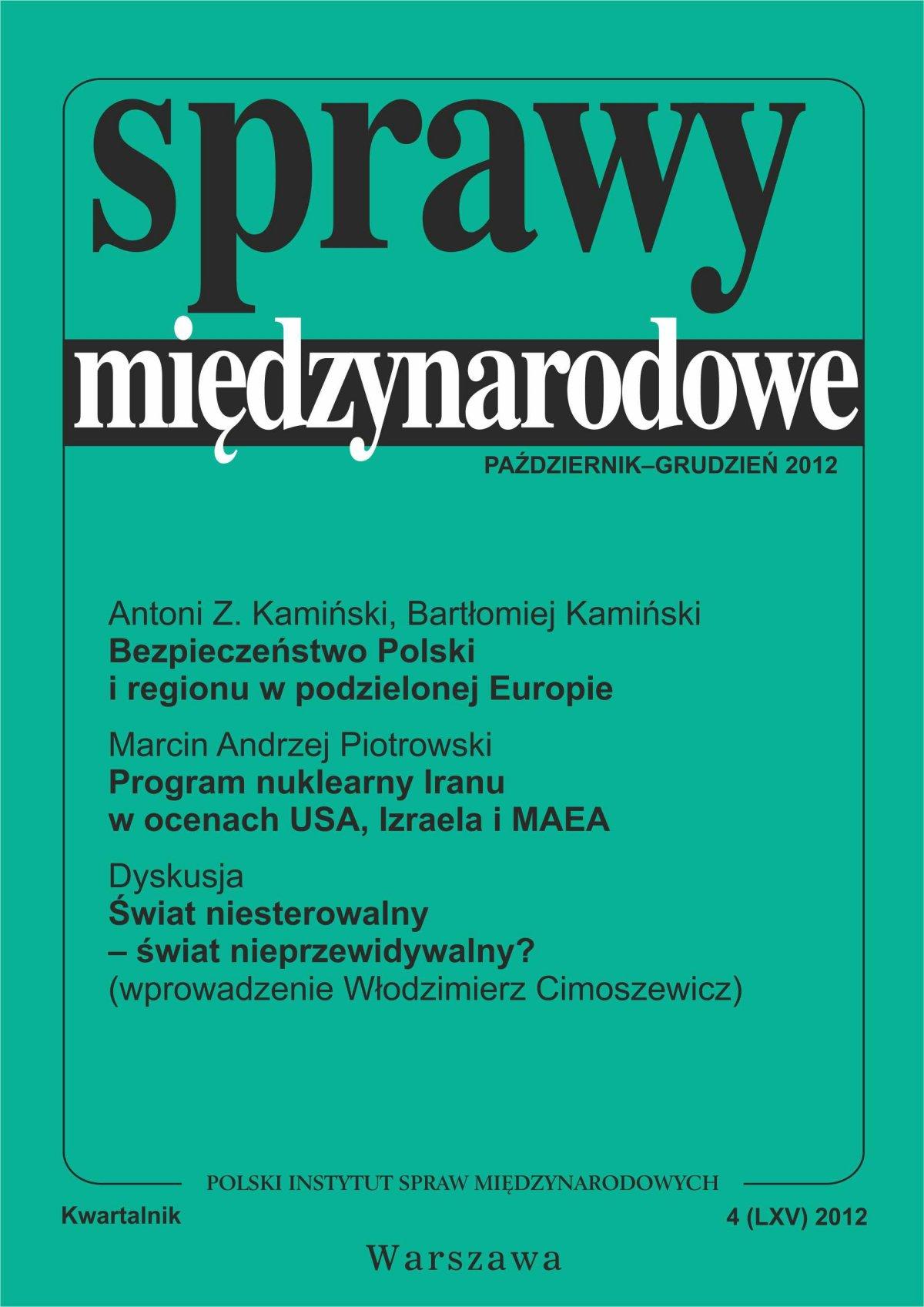 Sprawy międzynarodowe 4/2012 - Ebook (Książka PDF) do pobrania w formacie PDF