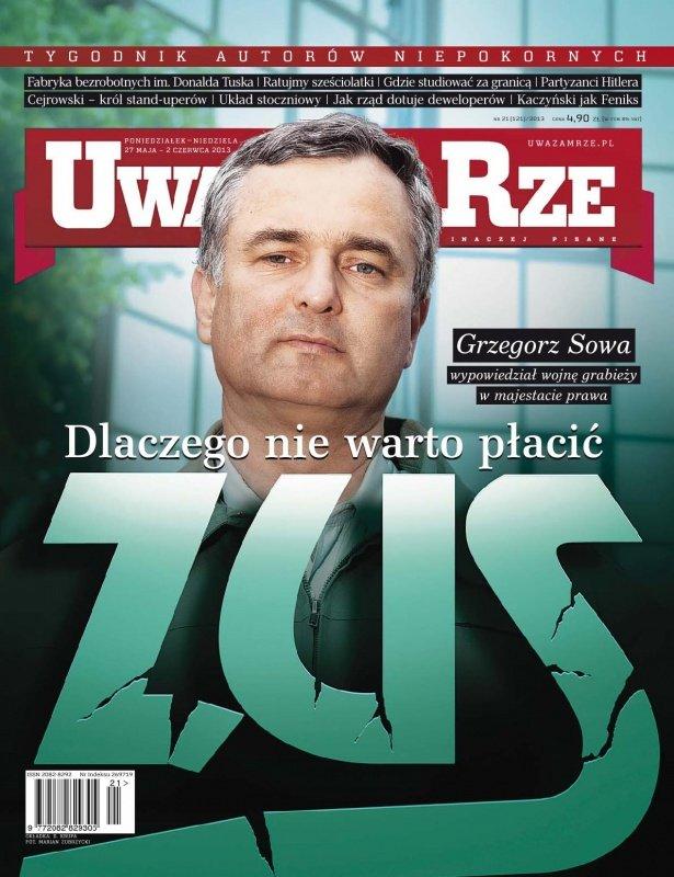 """""""Uważam Rze. Inaczej pisane"""" nr 21/2013 - Ebook (Książka PDF) do pobrania w formacie PDF"""