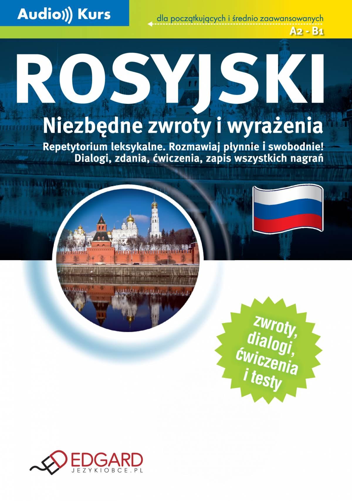 Rosyjski Niezbędne zwroty i wyrażenia - Audiobook (Książka audio MP3) do pobrania w całości w archiwum ZIP