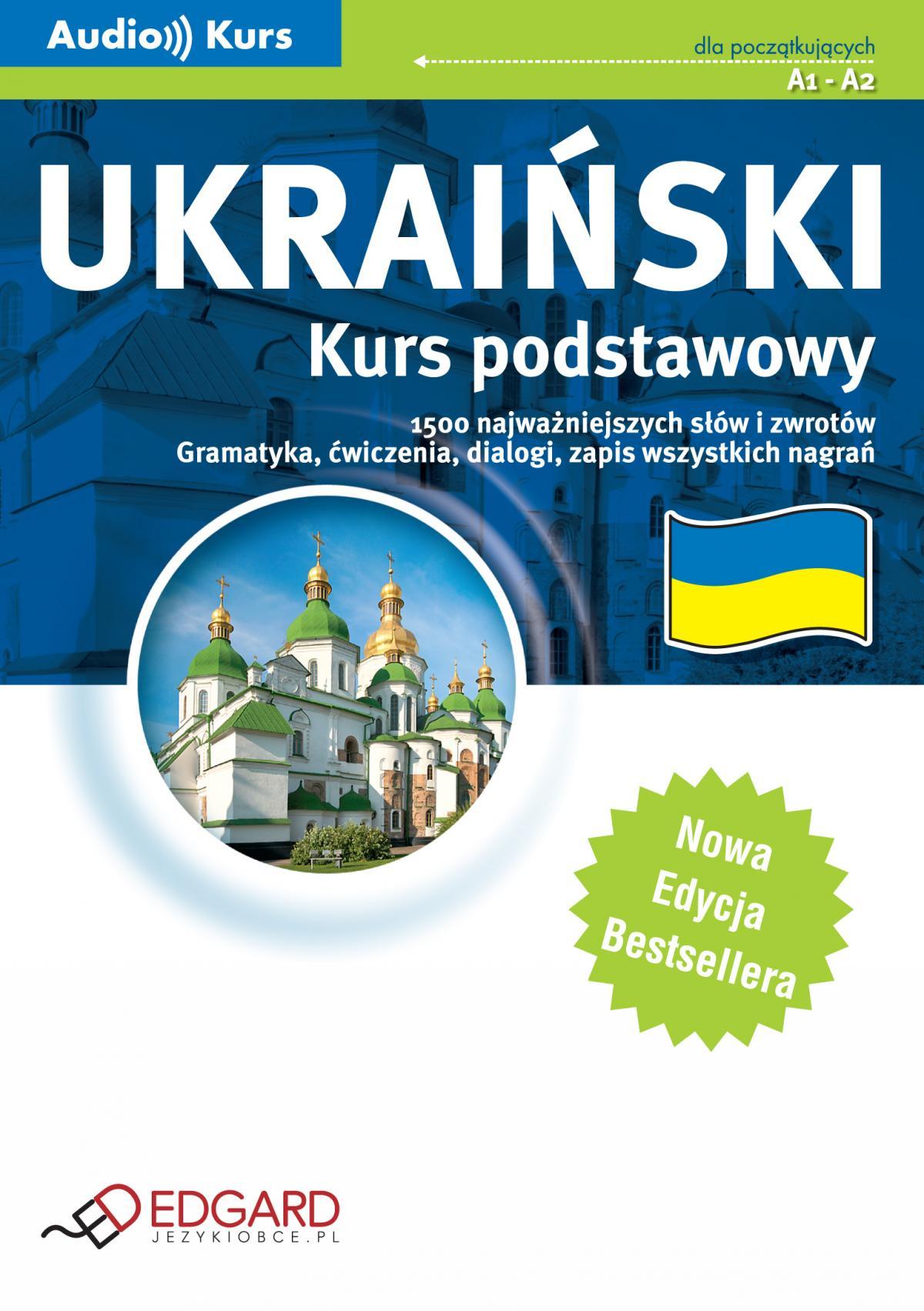Ukraiński Kurs podstawowy - Nowa Edycja - Audiobook (Książka audio MP3) do pobrania w całości w archiwum ZIP