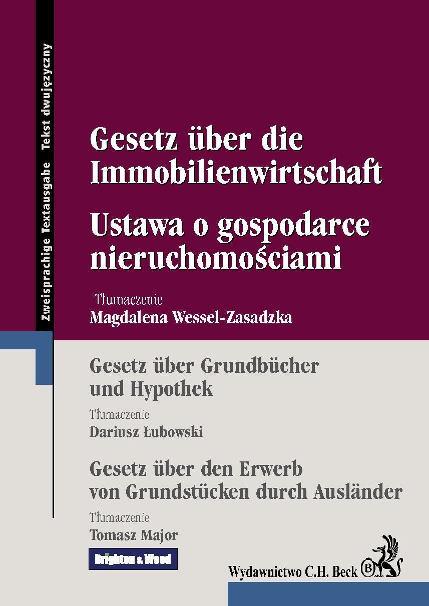 Ustawa o gospodarce nieruchomościami Gesetz uber die Immobilienwirtschaft - Ebook (Książka PDF) do pobrania w formacie PDF