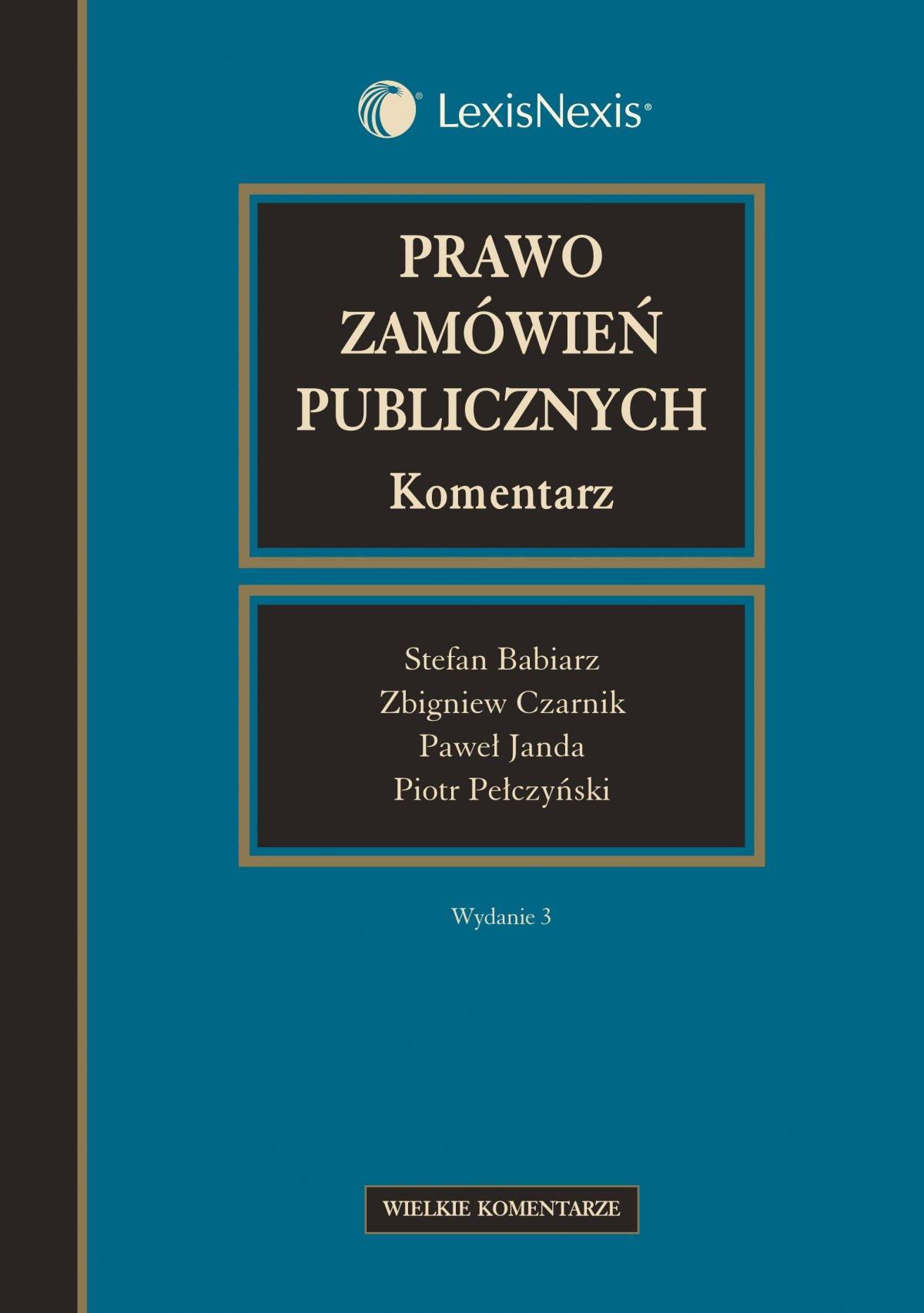 Prawo zamówień publicznych. Komentarz - Ebook (Książka EPUB) do pobrania w formacie EPUB