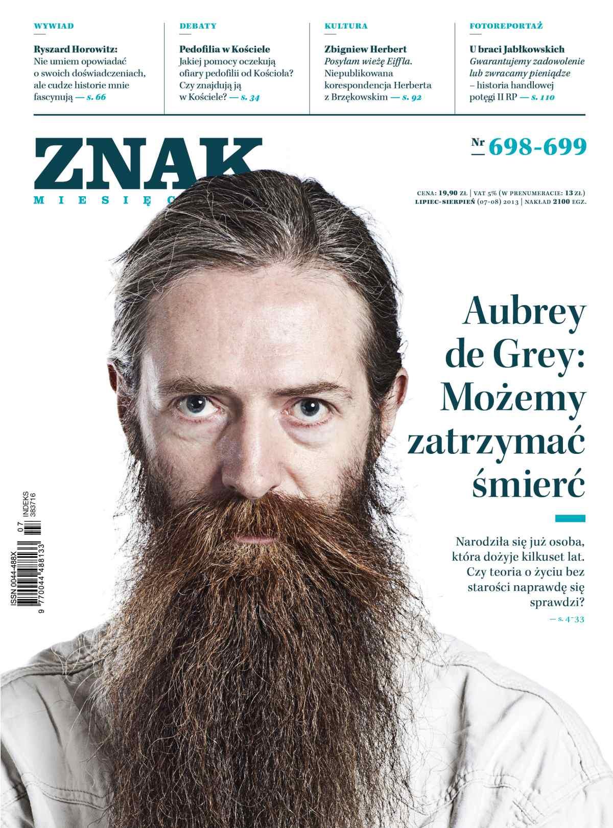 Miesięcznik Znak. Lipiec-Sierpień 2013 - Ebook (Książka PDF) do pobrania w formacie PDF