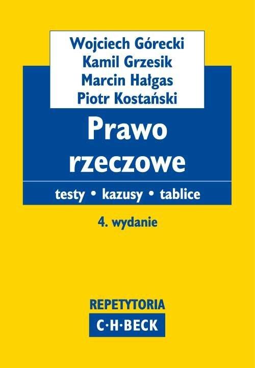 Prawo rzeczowe Testy. Kazusy. Tablice - Ebook (Książka PDF) do pobrania w formacie PDF