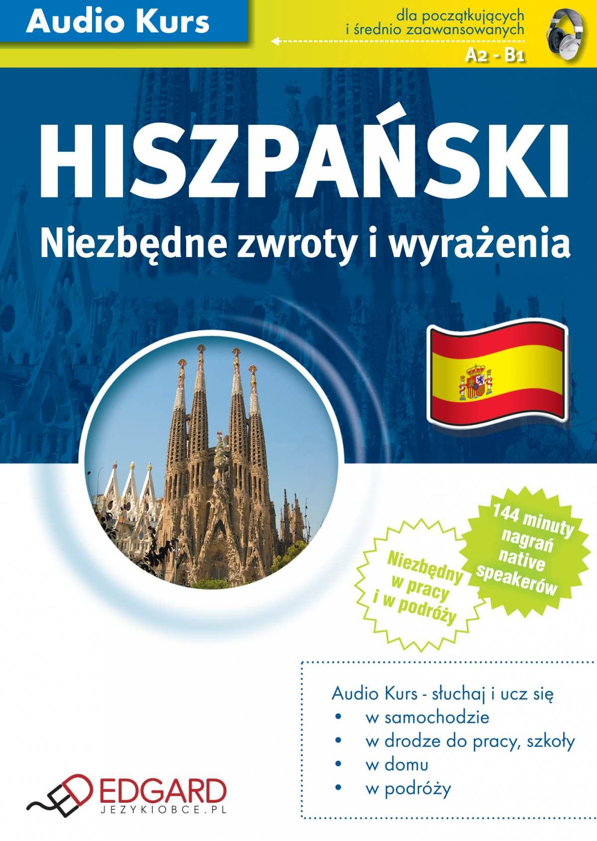 Hiszpański Niezbędne zwroty i wyrażenia - Audiobook (Książka audio MP3) do pobrania w całości w archiwum ZIP
