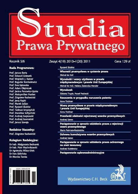 Studia Prawa Prywatnego. Zeszyt 1/2011 - Ebook (Książka PDF) do pobrania w formacie PDF