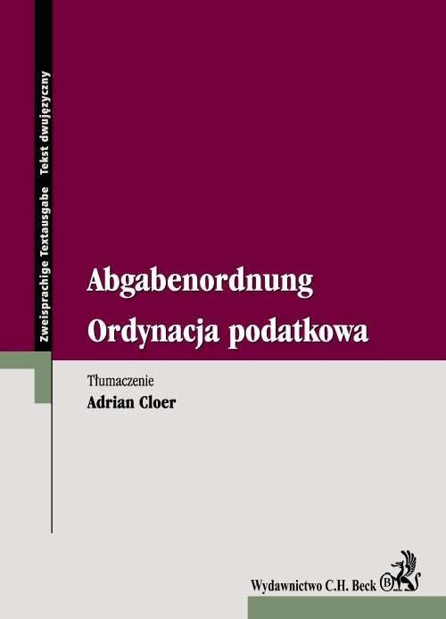 Ordynacja podatkowa Abgabenordnung - Ebook (Książka EPUB) do pobrania w formacie EPUB