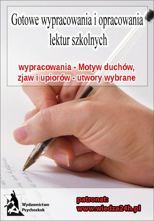 Wypracowania - Motyw duchów, zjaw, upiorów - Ebook (Książka na Kindle) do pobrania w formacie MOBI