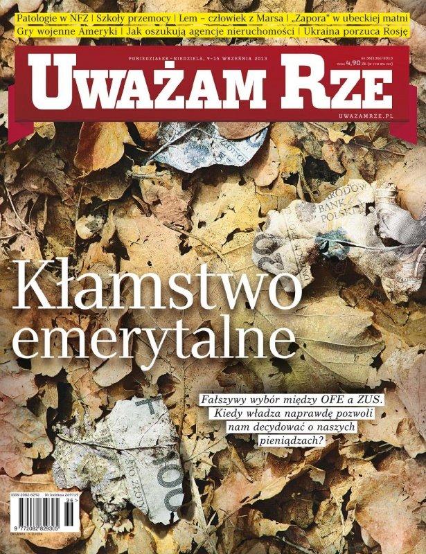 """""""Uważam Rze. Inaczej pisane"""" nr 36/2013 - Ebook (Książka PDF) do pobrania w formacie PDF"""