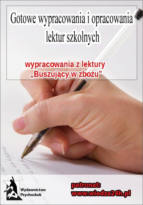 """Wypracowania – J. D. Salinger """"Buszujący w zbożu"""" - Ebook (Książka na Kindle) do pobrania w formacie MOBI"""