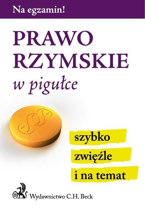 Prawo rzymskie w pigułce - Ebook (Książka PDF) do pobrania w formacie PDF