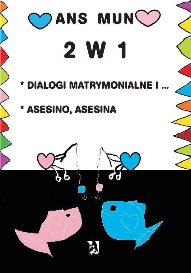 2 w 1. Dialogi matrymonialne i… Asesino, Asesina - Ebook (Książka EPUB) do pobrania w formacie EPUB