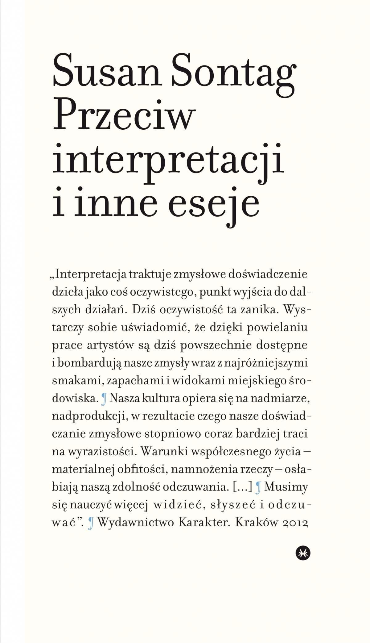 Przeciw interpretacji i inne eseje - Ebook (Książka na Kindle) do pobrania w formacie MOBI