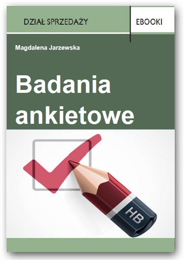 Badania ankietowe - Ebook (Książka PDF) do pobrania w formacie PDF